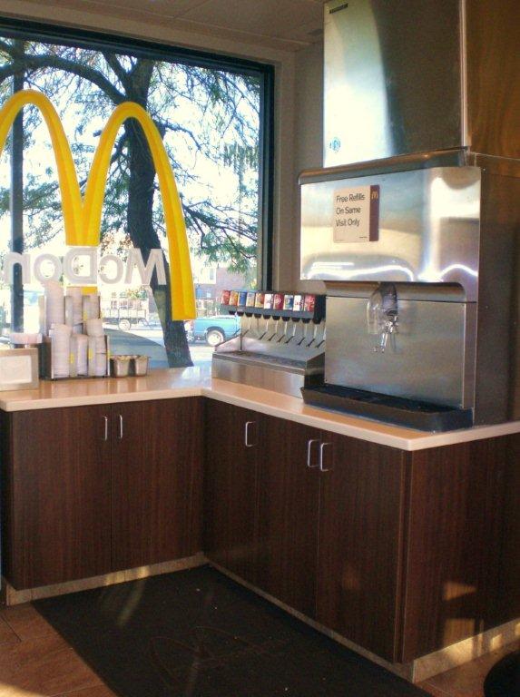 fast food commercial construction for McDonalds restaurant
